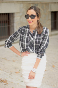 White Skirt & Plaid Shirt_ Besugarandspice17