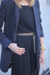Palazzo pants and Blue Blazer16