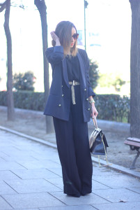 Palazzo pants and Blue Blazer04