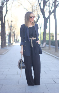 Palazzo pants and Blue Blazer07