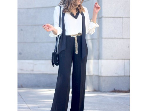 No te pierdas el último post del blog/ Don't miss the last post on the boog! #ootd #outfitideas #outfitoftheday #fashionblogger #streetstyle #style #girl #palazzo #pants #b&w #scarf #skinnyscarf #accessories @inspocafe @inspirations_closet
