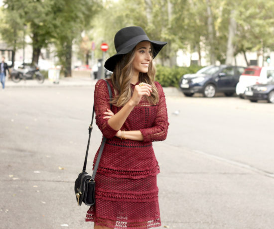 burgundy-lace-dress-black-heels-hat-accessories-outfit-fashion-style14